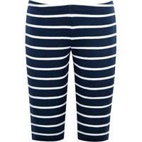 Navy & White Stripe Capri legging