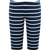 Navy & White Stripe Capri legging