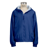 Royal Hooded Microfibre Jacket with School Logo