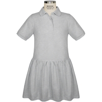 Ash Jersey Polo Dress with School logo