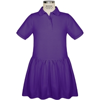 Purple Jersey Polo Dress with School logo
