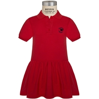 Red Jersey Polo Dress with Primrose logo