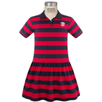 Navy/Red Stripe Jersey Polo Dress with Primrose logo