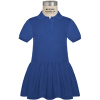 Royal Pique Polo Dress with School Logo