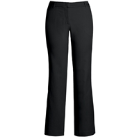 Black Flat Front Stretch Pants