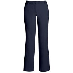 Navy Flat Front Stretch Pants