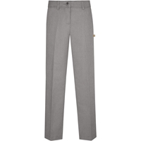 Irvington Flat Front-Heather Grey Gabardine