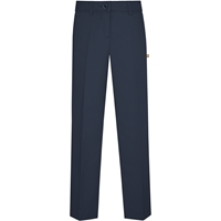 Navy Irvington Flat Front Pants