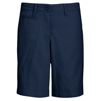 Navy Flat Front Walk Shorts