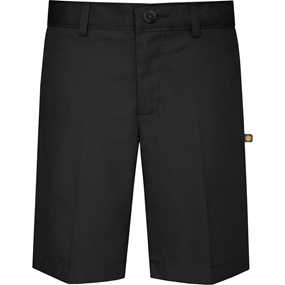 Black Irvington Flat Front Walk Shorts
