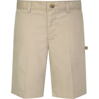 Khaki Irvington Flat Front Walk Shorts with School Logo