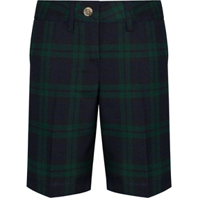 Blackwatch Plaid Irvington Flat Front Walk Shorts