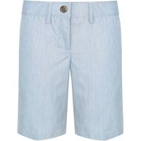 Blue Pinfeather Irvington Flat Front Walk Shorts