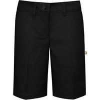 Black Irvington Flat Front Walk Shorts