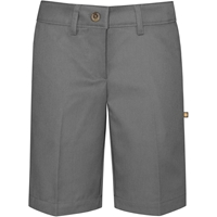 Grey Irvington Flat Front Walk Shorts