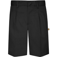 Black Hawthorne Pleated Front Walk Shorts