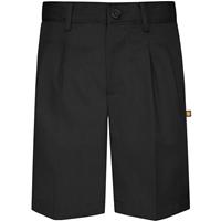 Black Hawthorne Pleated Front Walk Shorts