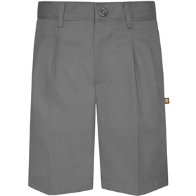 Grey Hawthorne Pleated Front Walk Shorts