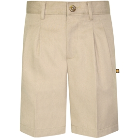 Khaki Hawthorne Pleated Front Walk Shorts