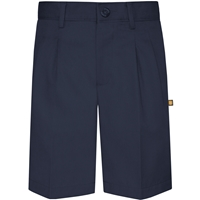 Navy Hawthorne Pleated Front Walk Shorts