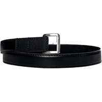 Black Leather Velcro Closure Belt