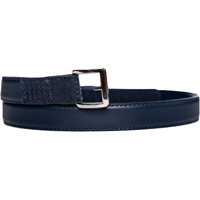 Navy Leather Velcro Closure Belt