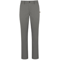 Grey Mid Rise Stretch Twill Tapered Leg Pant