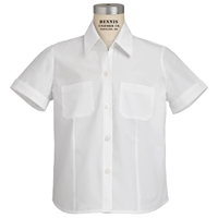 White Short Sleeve Camp Shirt