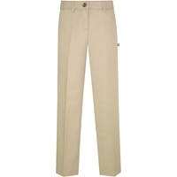 Khaki Irvington Stretch Twill Flat Front Pant with School logo