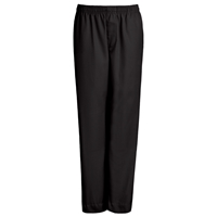 Black Drawstring Pull-On Pants