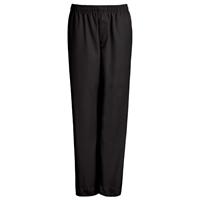 Black Drawstring Pull-On Pants