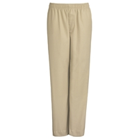 Khaki Drawstring Pull-On Pants