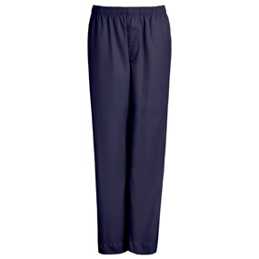 Navy Drawstring Pull-On Pants