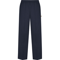 Navy Pull-On Pants with School logo