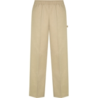 Khaki Pull-On Stretch Pants