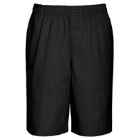 Black Drawstring Pull-On Walk Shorts