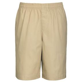 Khaki Drawstring Pull-On Walk Shorts