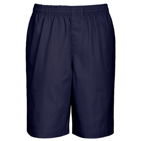 Navy Drawstring Pull-On Walk Shorts