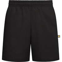 Black  Pull-On Walk Shorts