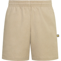 Khaki  Pull-On Walk Shorts with School logo
