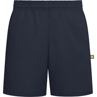 Navy Pull-On Walk Shorts with School logo