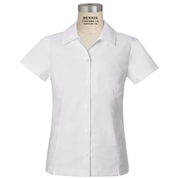 White Short Sleeve Taylor Blouse