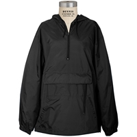 Wind Anorak 100N-Black with School logo