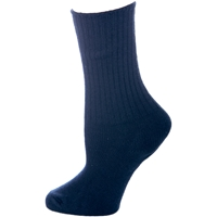 Navy Cotton Crew Socks