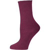 Wine Cotton Crew Socks