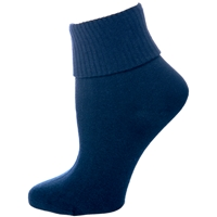 Navy Cotton Anklet Sock