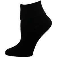 Black Triple Roll Socks