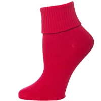 Red Triple Roll Socks