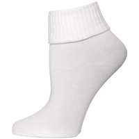 White Triple Roll Socks