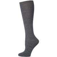 Heather Grey Cable Knit Knee-Hi Socks